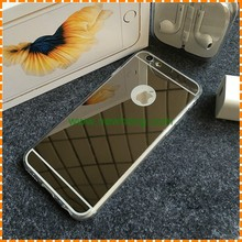 "Luxury Mirror Soft Clear TPU Case For iphone 6 6S 4.7 inch & iPhone6 Plus 5.5"" & 5se 5s 5 Cover Back"