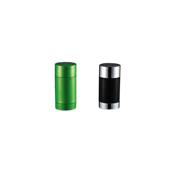 Free samples 30g 50g 75g AS plastic deodorant empty round shape lip balm tube stick container