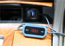 Universal car fm transmitter car usb charger dual 2.4amp fm radio transmitter