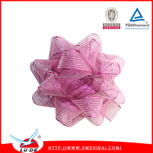 2016 Fancy gift ribbon bows Assorted colors metallic star bow for christmas decoration