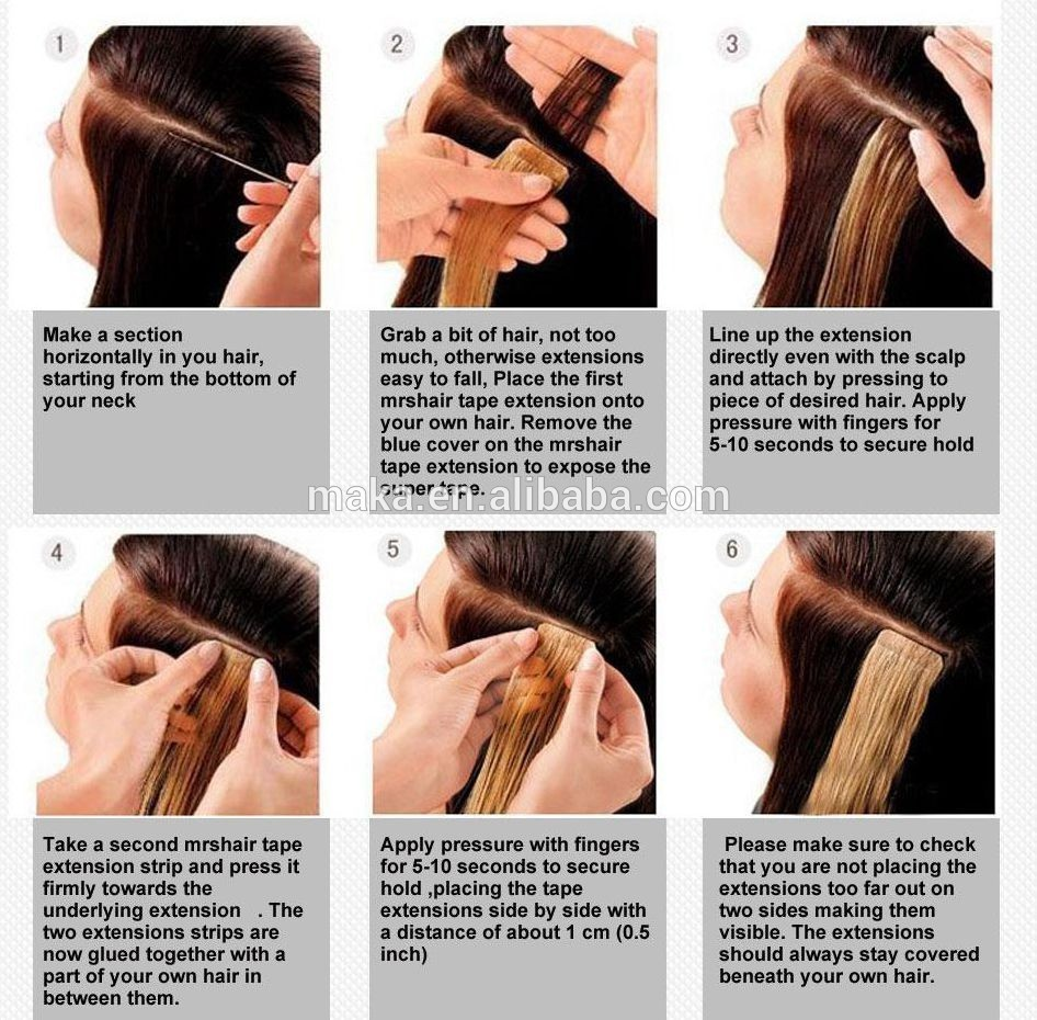 brazilian human hair extension tape