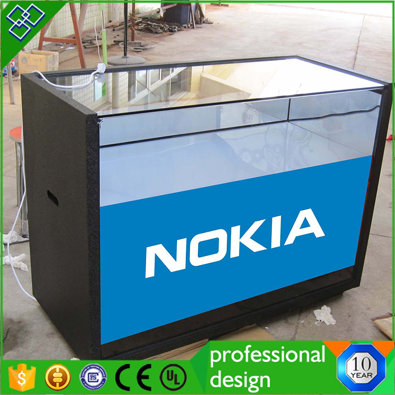 Supermarket Glass Mobile Phone Display Cabinet