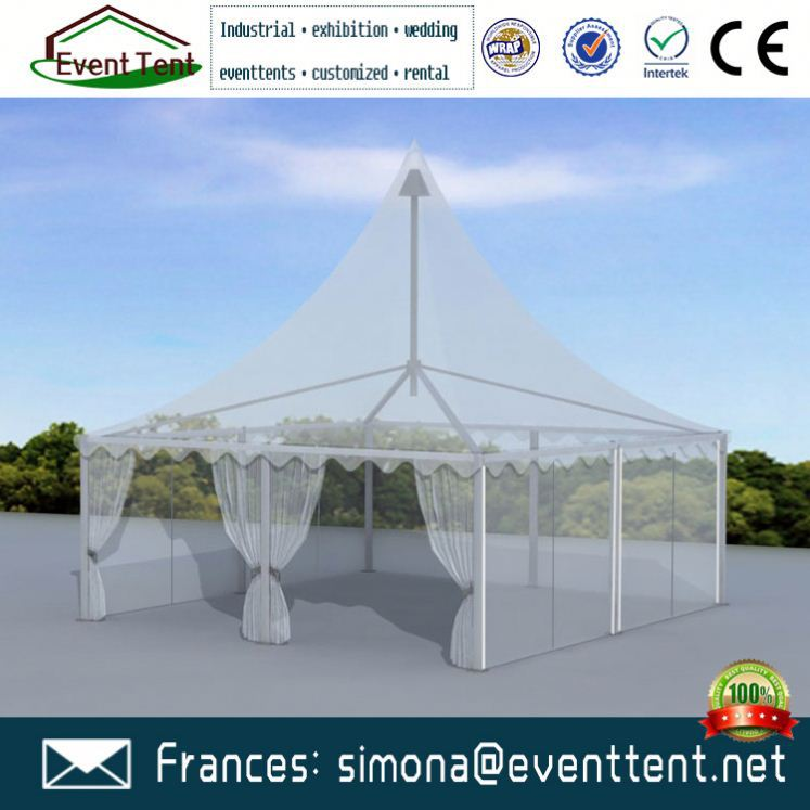 Outdoor garden wind proof gazebo with sidewall roman gazebo tent for sale