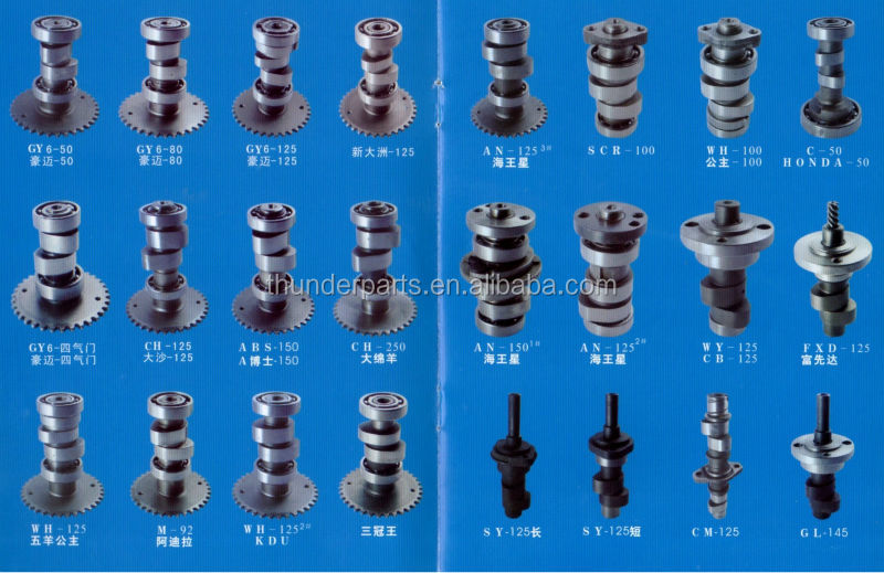 Motorcycle camshaft,parts for 50cc,100cc,125cc,150cc scooter,Gy6 scooter,Kymco Scooter