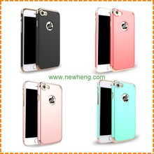 3in1 detachable hard pc rubber coating protective plating bumper back cover case for iphone 7