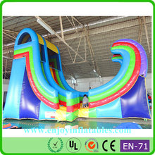 Funny good quality adult size inflatable water slide/ happy hop inflatable water slide/ residential inflatable water slides