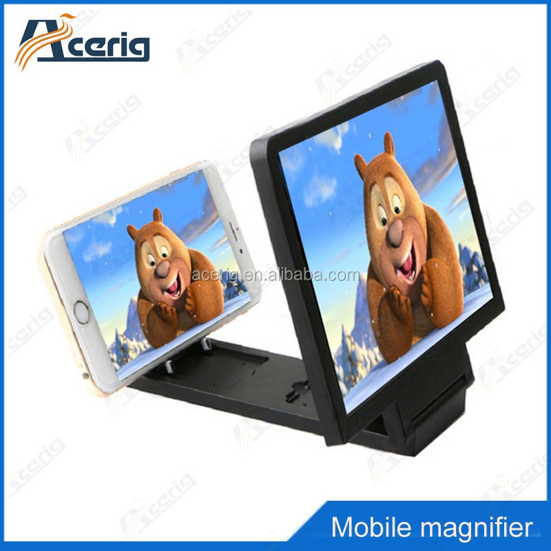 mobile phone 3D screen magnifier holder New 3D Movie Foldable Mobile Phone Enlarge Screen Magnifier with speaker
