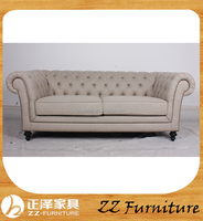 Fancy vintage style upholstered fabric sofas for sale
