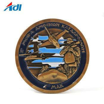 custom brass challenge air force military souvenir old coin