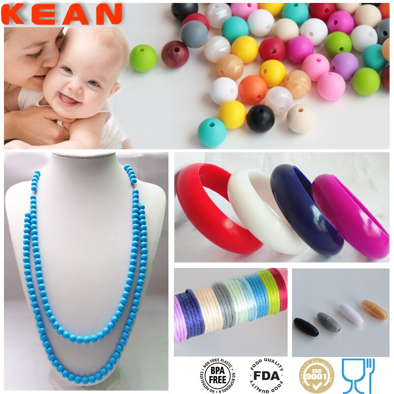 Food Grade Silicon Teething Bling / Silicone Teething Necklace For Baby/Giraffe Teether
