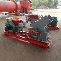 Stone Breaking Diesel Engine Portable Grinding Hammer Mill Crusher Price