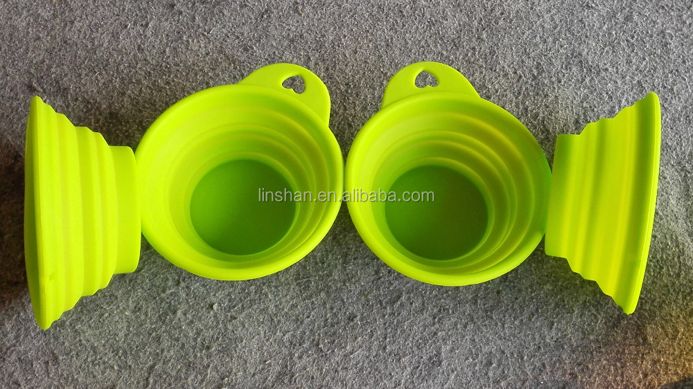 Pet Dog Cat Silicone Foldable Feeding Bowl Water Dish Feeder Travel