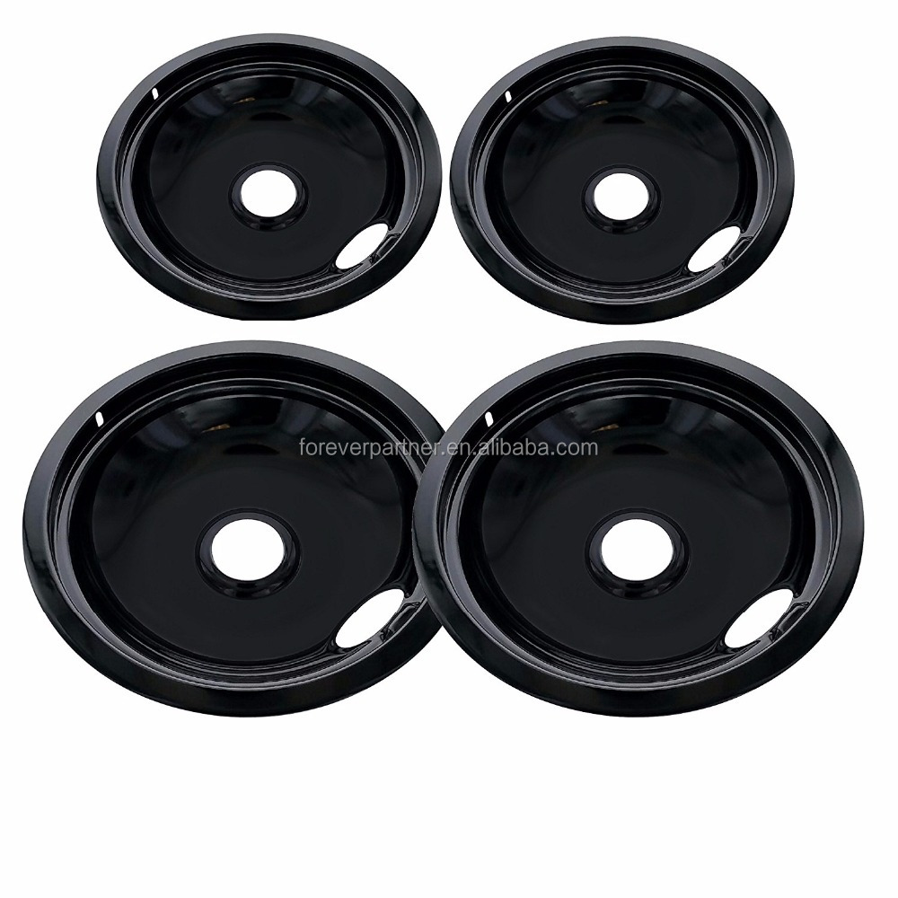 2 of WB31M20 and 2 of WB31M19 Range Cooktop Porcelain Drip Pan Bowls Model: WB31M19 & WB31M20 2 each