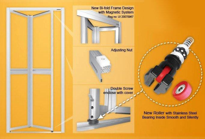 Bifold Door, Aluminium Door, Toilet Door, Bi-fold Door, Aluminium Bi ...