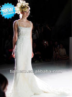 2012 New Fashion vivebridal backless mermaid style luxury beaded lace wedding dresses with long tail XK-0613