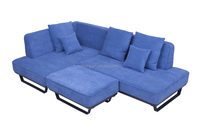 Scandinavian Furniture Fabric Big Sectional Sofa For Living Room