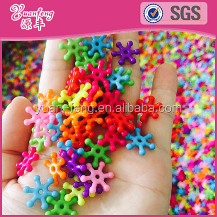 Bead Landing Wholesale Mixed Color Acrylic Snowflake Beads