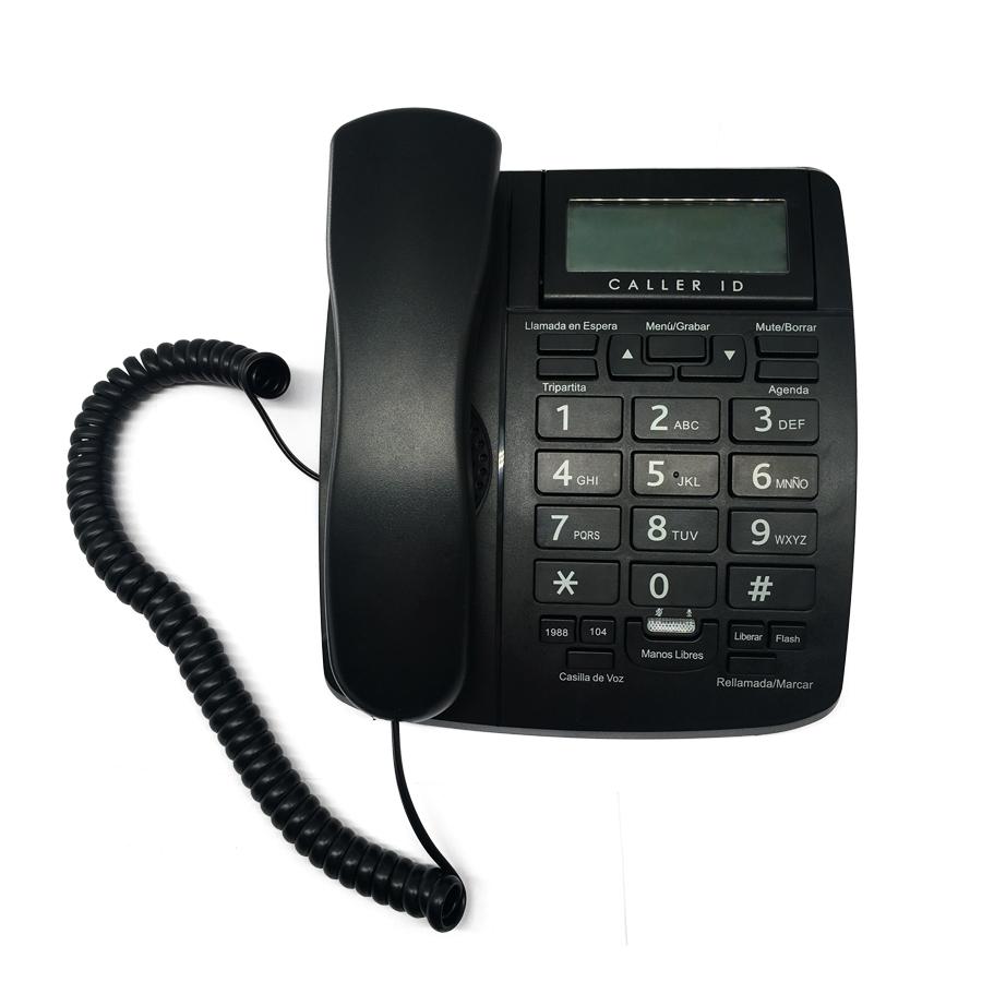 China Caller ID Phones Analog PSTN Corded Phone with Speakerphone D318P