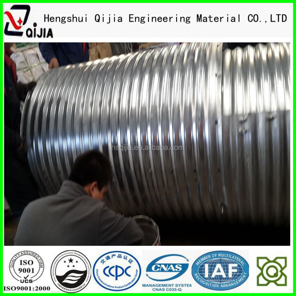 galvanized steel pipe road culverts tube9 tunnel liner plates bridges sewers metal pipe