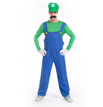 Men adult super mario costume for party