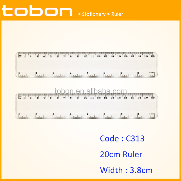 8 inch 20cm length wide plastic drawing measuring scale ruler C313