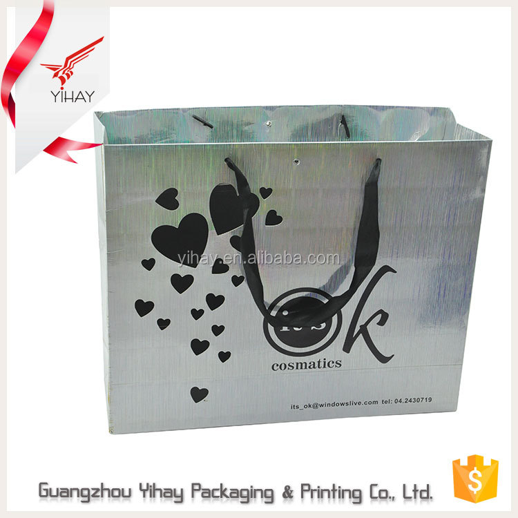 China Bag eco friendly custom printed luxury shopping wedding gift paper bag with logo print