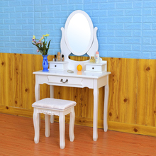 D1723 lighted makeup antique style table wooden table caddy dressing table stool vanity stool set