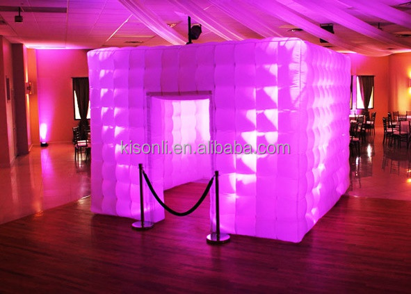 High Quality inflatable photo studio 3d photo booth portable led photo booth tent
