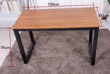 Countryside cheap metal frame dining tables