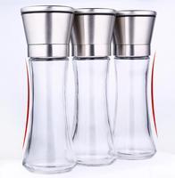 K-6 Stainless Steel Glass Bottle Salt Pepper Mill