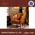 0038 Antique classic wood guest chair,hand carved rest chair in genuine leather