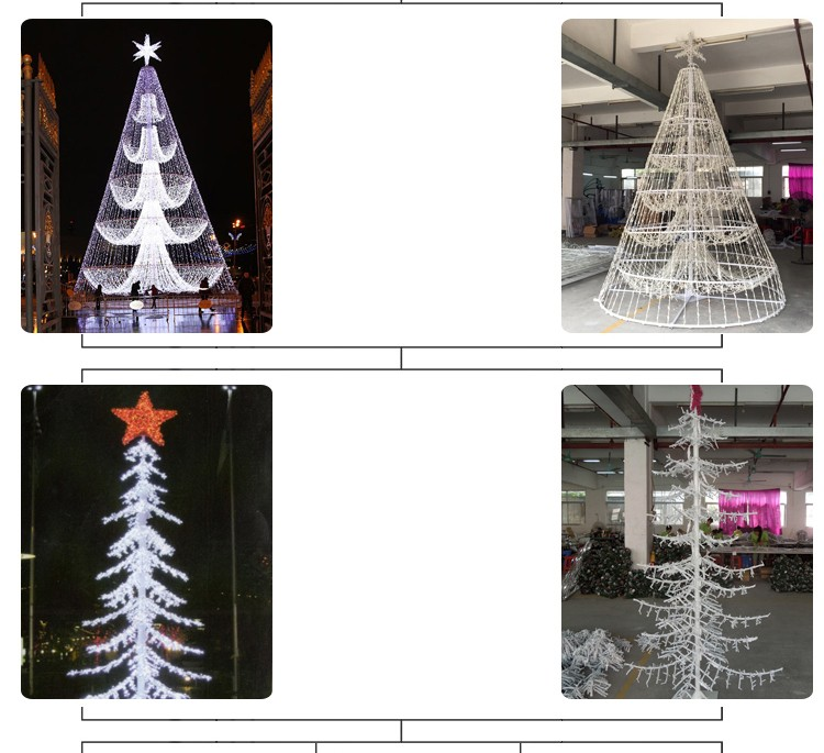 Led lights 24ft artificial spiral motif outdoor christmas trees