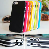 Ultra Slim TPU Bumper Case For iphone 5c 5s 4 4s Soft Skin Gel Silicone Cover