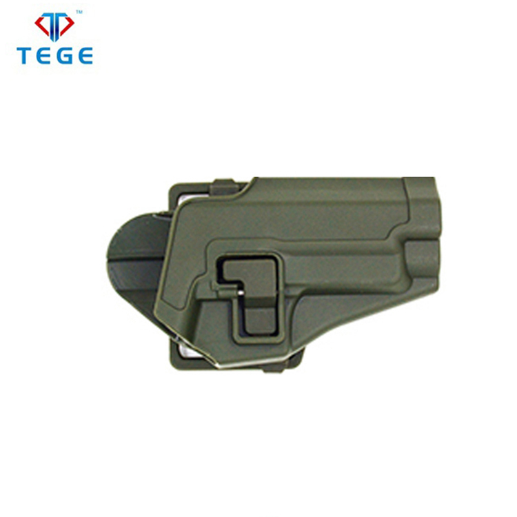 Concealed OD green belt slide safety military polymer gun holster for Sig Sauer