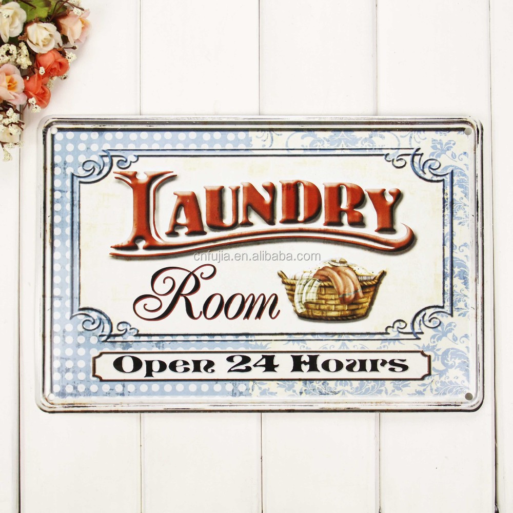 Factory price decorative Vintage Metal hanging Signs Wholesale custom Tin sign
