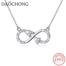 Factory Design Wholesale jewelry 925 Sterling Silver Love Arrow Infinity Symbol Necklace