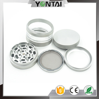 USA best sale 4 part cnc milling herb grinder with glass container