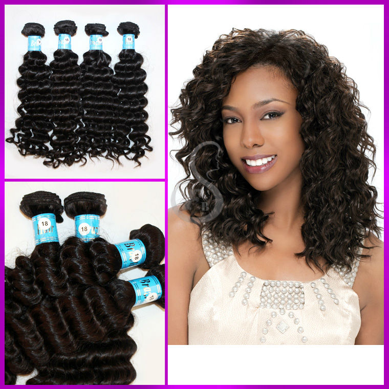 wholesale top quality double drawn 5A hair i tip deep wave hair extensions