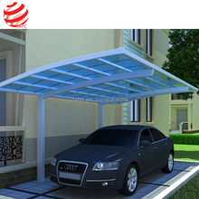 Luxury aluminium curved carport canopy with tough arched roof