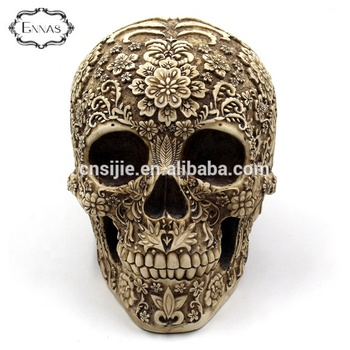 Custom made resin skulls wholesales Halloween skull heads for crafts