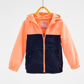 Front press stud pockets contrast kids children jackets and lining