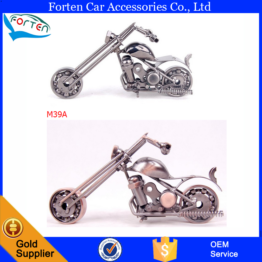 Handmade metal art craft 3D motorcycle model for office household decoration gift