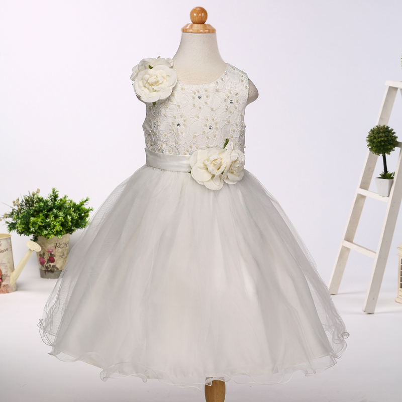 Children dresses ruffle lace design formal prom dresses for Malaysia kids LH0083