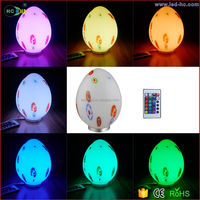 Indoor Christmas decorative LED mood light/16 color changing remote control dinosaur egg glass ball night light