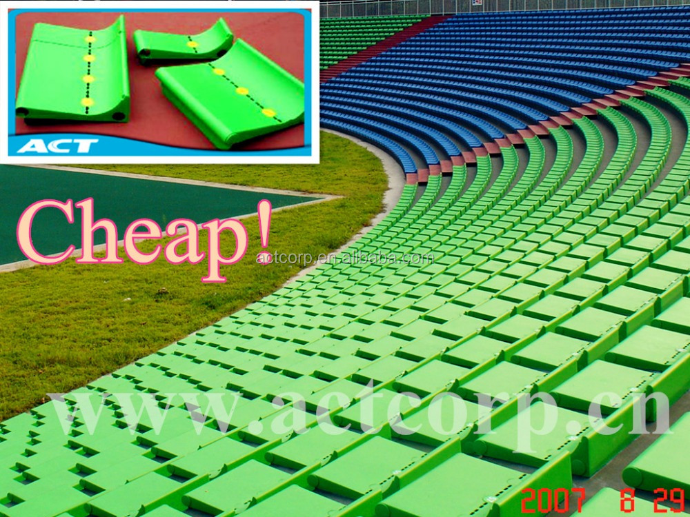 ACT 2017 stadium strong permanent stadium grandstand plastic seat made in china -ZS-DKB-P