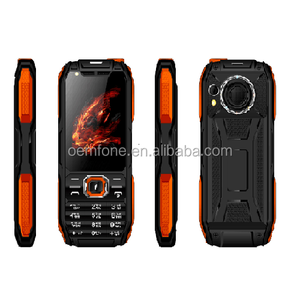 Kaliho Newest Multi-function Big Battery Rotating Light Power Bank Rugged Feature Mobile Phone