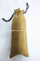 wholesale custom jute sack bag for wheat with drawstring
