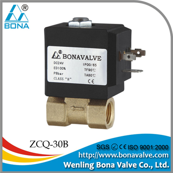 "1/8"" 1/4"" Brass hot water heater vertical steam boiler 24V 42V 110V 220V solenoid valve ZCQ-30B"