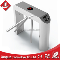 Barcode reader drop arm turnstile for entrance access control