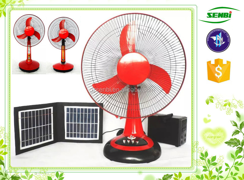 solar fan & lighting system 12v dc cooling fan motor 16 inch electric table fan with timer